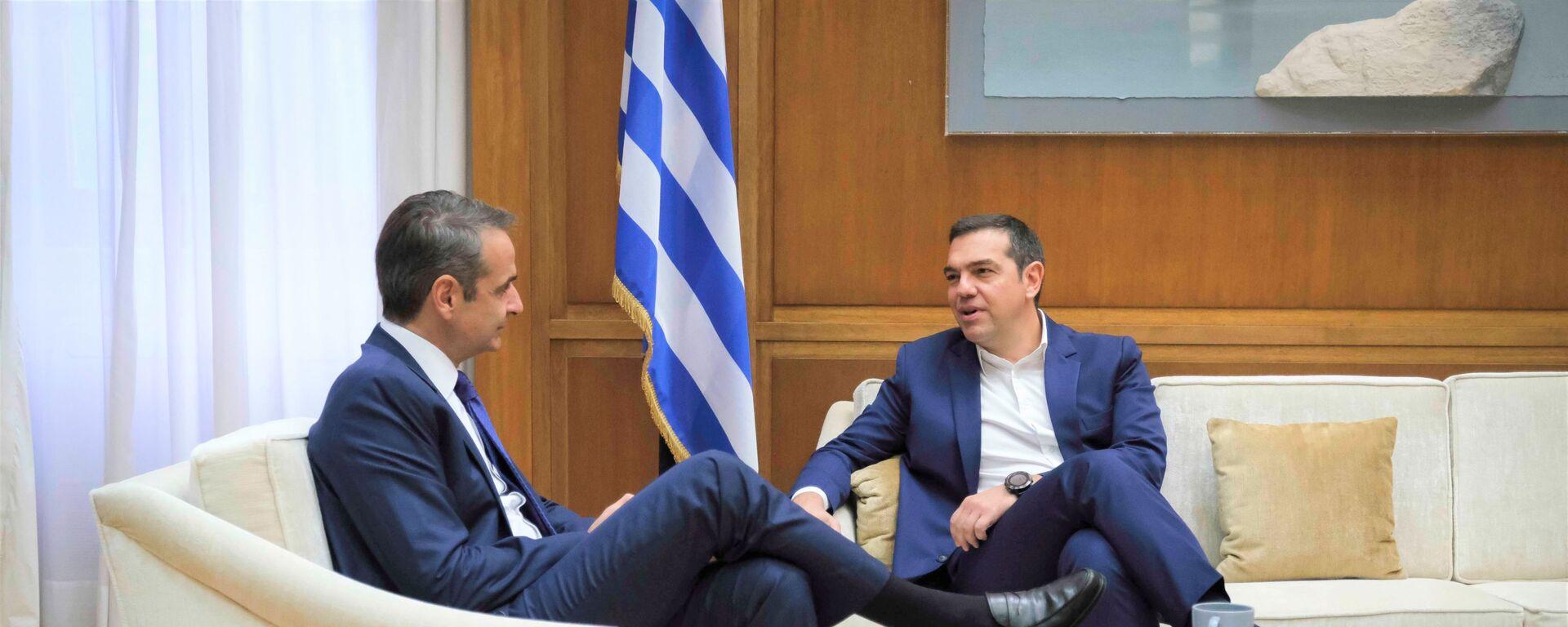Συνάντηση Μητσοτάκη - Τσίπρα στη Βουλή - Sputnik Ελλάδα, 1920, 29.07.2021