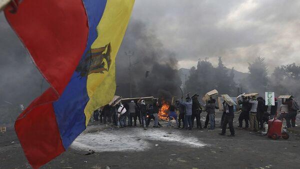 Συγκρούσεις στο Εκουαδόρ μετά την κατάργηση των επιδοτήσεων στα καύσιμα - Sputnik Ελλάδα