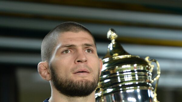 Ο Χαμπίμπ Νουρμαγκομέντοφ στο ματς Ανζί - ΤΣΣΚΑ - Sputnik Ελλάδα