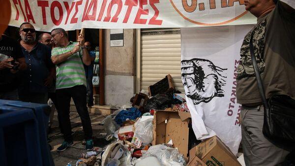 Συλλαλητήριο από μέλη των σωματείων της ΠΟΕ-ΟΤΑ - Sputnik Ελλάδα