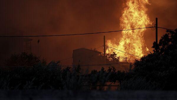 Πυρκαγιά στην Πεντέλη, στις 23 Ιουλίου, 2018 - Sputnik Ελλάδα