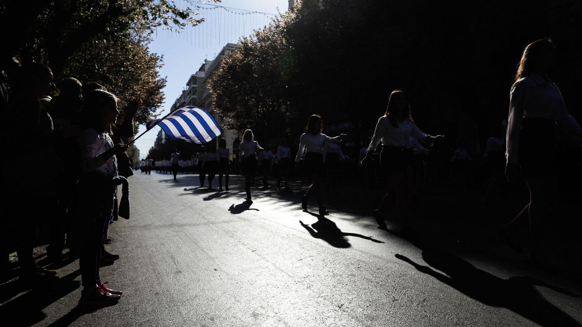 Μαθητική παρέλαση για την Εθνική επέτειο της 28ης Οκτωβρίου στην Θεσσαλονίκη. - Sputnik Ελλάδα, 1920, 14.10.2021