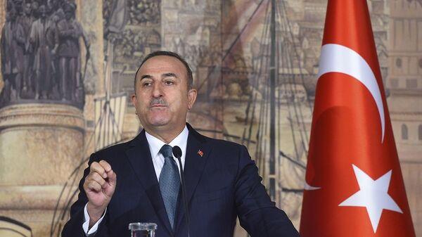 Ο υπουργός Εξωτερικών της Τουρκίας Μεβλούτ Τσαβούσογλου - Sputnik Ελλάδα