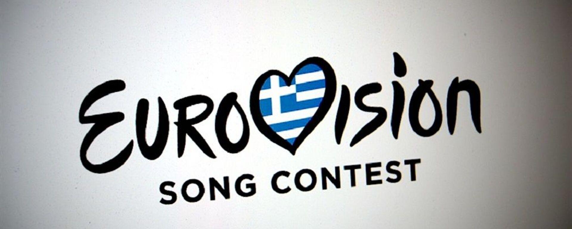 Το λογότυπο του διαγωνισμού τραγουδιού της Eurovision με την ελληνική σημαία στο κέντρο - Sputnik Ελλάδα, 1920, 07.09.2021
