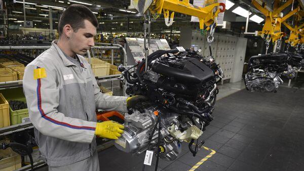 Γραμμή παραγωγής στην Peugeot - Sputnik Ελλάδα
