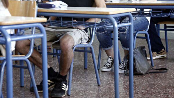Μαθητές σε σχολείο.  - Sputnik Ελλάδα