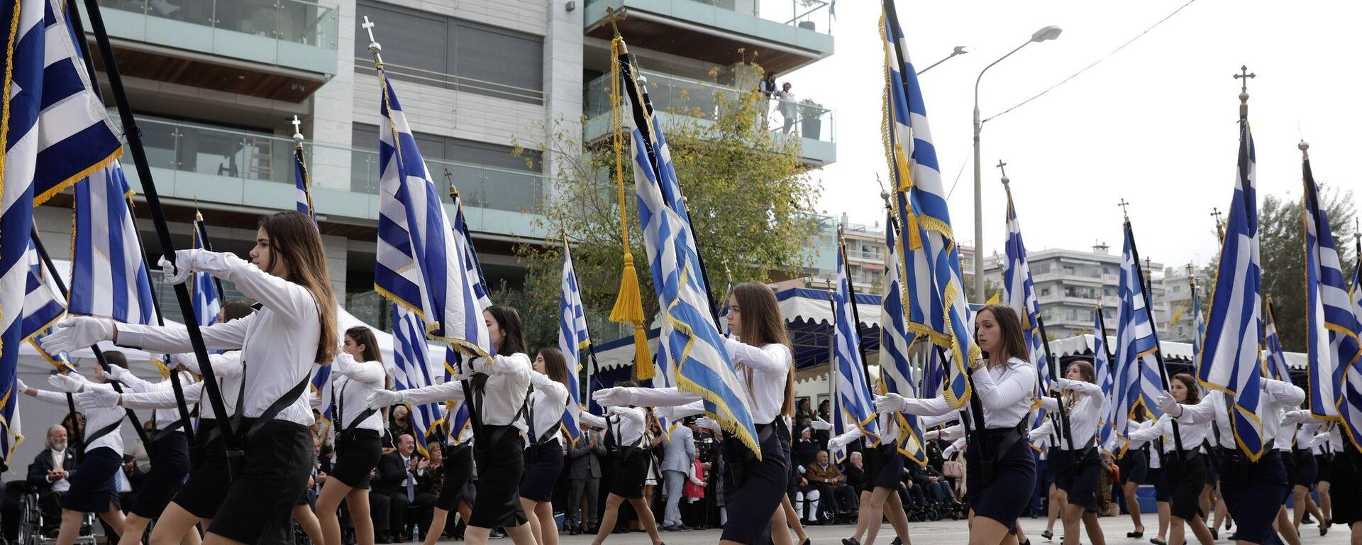 Μαθητική παρέλαση 28ης Οκτωβρίου - Sputnik Ελλάδα, 1920, 04.10.2021