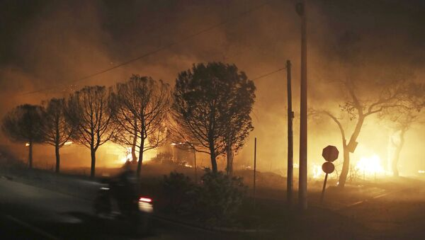 Πυρκαγιά στο Μάτι Αττικής - Sputnik Ελλάδα