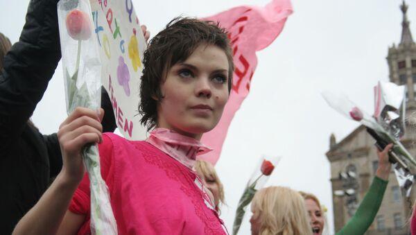 Η ακτιβίστρια των FEMEN, Οξάνα Σάτσκο - Sputnik Ελλάδα