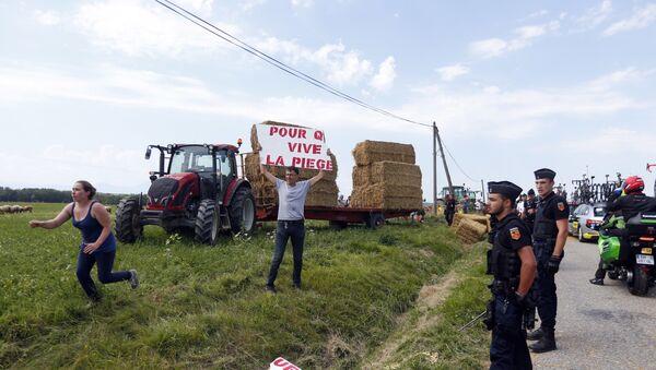 Ποδηλατικός γύρος Γαλλίας, κινητοποιήσεις αγροτών - Sputnik Ελλάδα