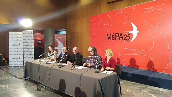 Ο γραμματέας του ΜέΡΑ25 Γιάνης Βαρουφάκης σε συνέντευξη Τύπου στη Θεσσαλονίκη - Sputnik Ελλάδα
