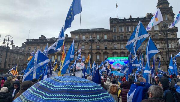 Διαδήλωση για την ανεξαρτησία της Σκωτίας - Sputnik Ελλάδα