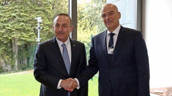 Νίκος Δένδιας και Μεβλούτ Τσαβούσογλου - Sputnik Ελλάδα