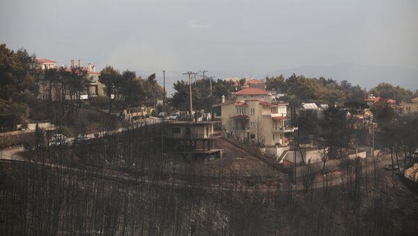 Πυρκαγιά στη θέση Μάτι, στη Ραφήνα - Sputnik Ελλάδα