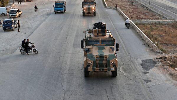 Ο τουρκικός στρατός στην Ιντλίμπ της Συρίας.  - Sputnik Ελλάδα