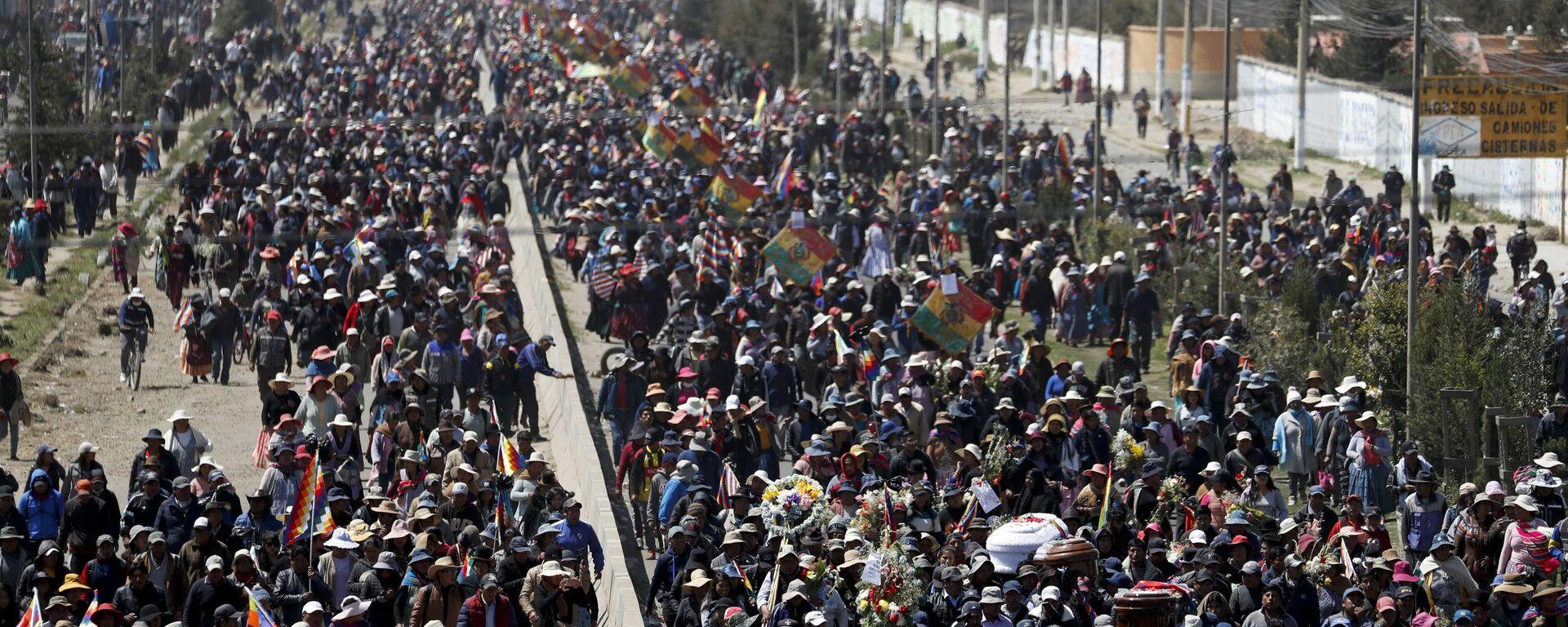 Πλήθος κόσμου στη Βολιβία.  - Sputnik Ελλάδα, 1920, 20.08.2021