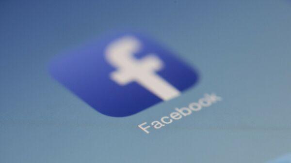 Εικονίδιο με το λογότυπο του facebook - Sputnik Ελλάδα
