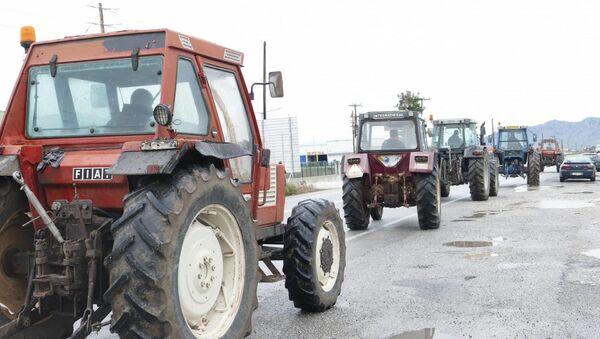 Αγρότες στη Λάρισα - Sputnik Ελλάδα