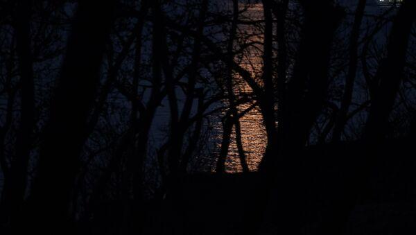 Το ματωμένο φεγγάρι ανατέλλει πάνω από τα καμένα στο Μάτι - Sputnik Ελλάδα