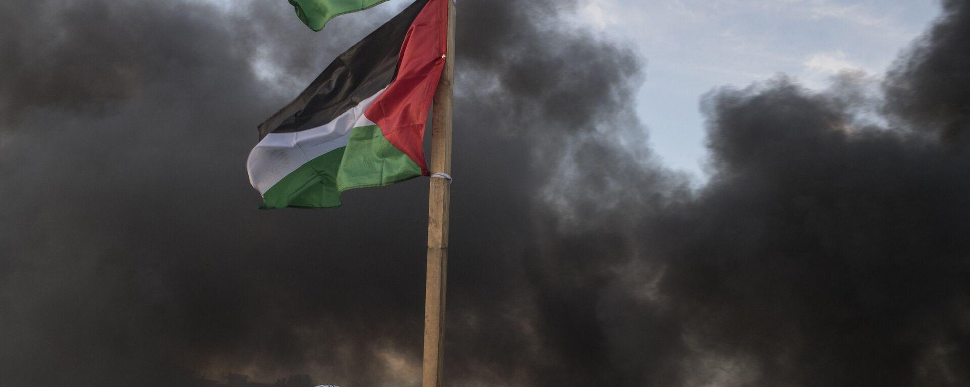 Διαδηλωτής στα σύνορα Ισραήλ - Παλαιστίνης έξω από τη Ραμάλα - Sputnik Ελλάδα, 1920, 18.05.2021