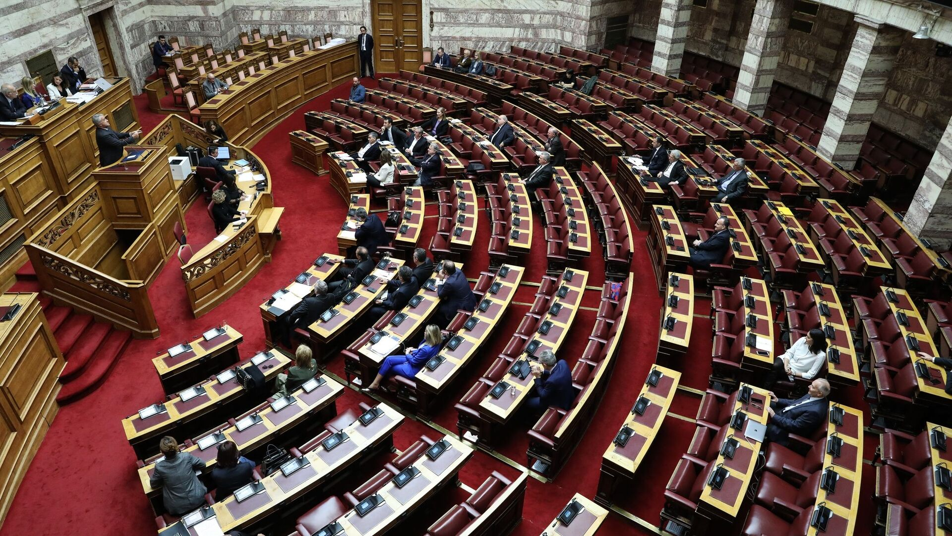 Συζήτηση του Προϋπολογισμού 2020 στην Ολομέλεια της Βουλής. - Sputnik Ελλάδα, 1920, 07.10.2021