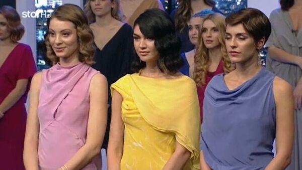 Η Άννα-Μαρία Ηλιάδου, η Κέισι Μίζιου και η Κάτια Ταραμπάνκο στον τελικό του «GNTM 2» - Sputnik Ελλάδα