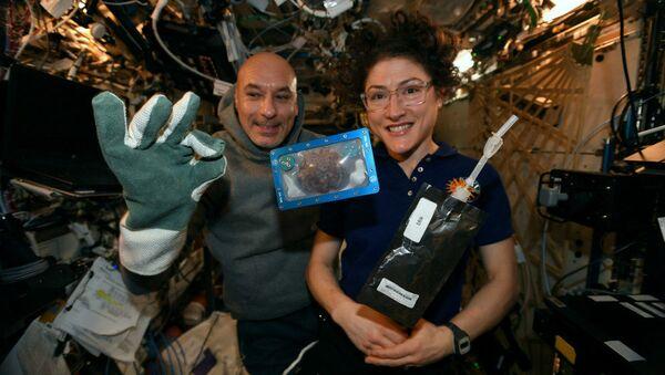 Οι αστροναύτες στο Διεθνή Διαστημικό Σταθμό έψησαν το 1ο διαστημικό μπισκότο για τα Χριστούγεννα - Sputnik Ελλάδα