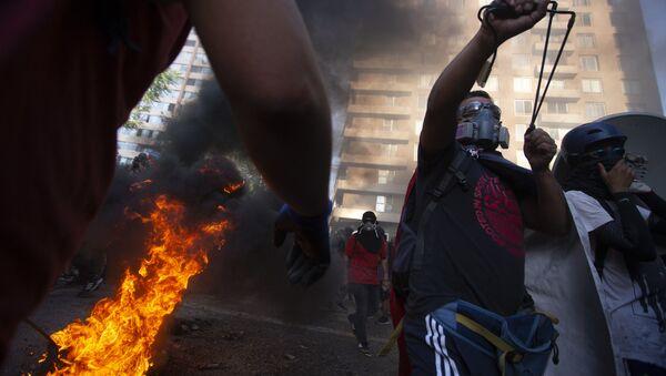 Διαδηλώσεις στη Χιλή - Sputnik Ελλάδα