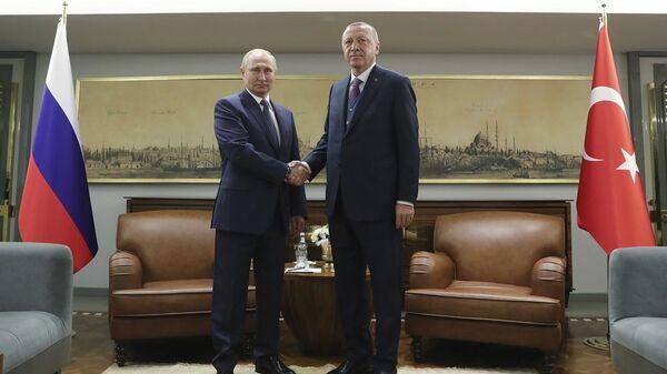 Συνάντηση Πούτιν - Ερντογάν  - Sputnik Ελλάδα