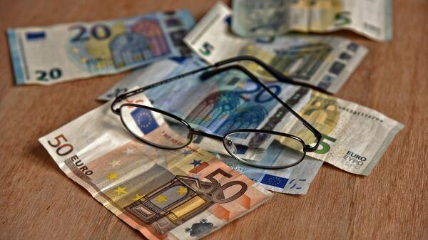 Χαρτονομίσματα του ευρώ - Sputnik Ελλάδα