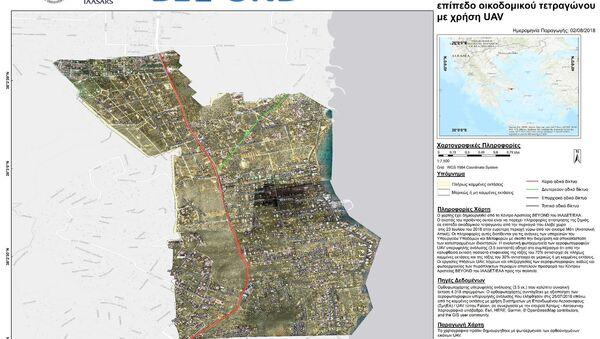 Χάρτης του Αστεροσκοπείο αποτυπώνει την καταστροφή στο Μάτι - Sputnik Ελλάδα