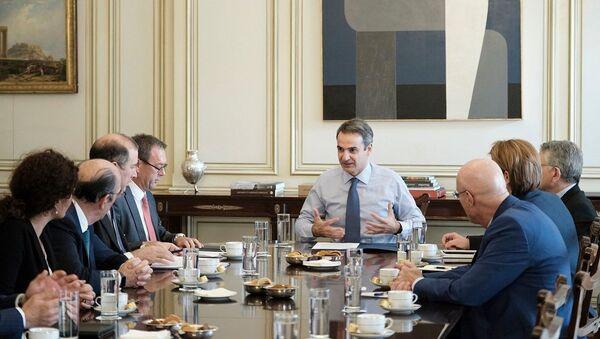 Συνάντηση Μητσοτάκη με εκπροσώπους ενεργειακών εταιρειών - Sputnik Ελλάδα