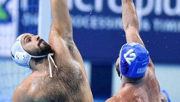 Στιγμιότυπο του αγώνα Ιταλία - Ελλάδα για το Ευρωπαϊκό Πρωτάθλημα πόλο ανδρών, 14 Ιανουαρίου 2020 - Sputnik Ελλάδα