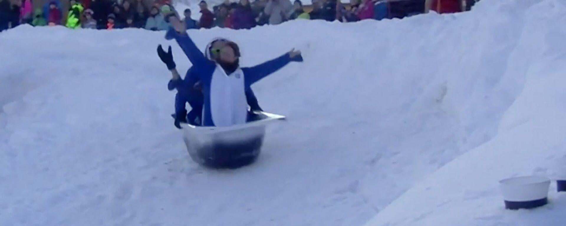 Αγώνες σκι στις Άλπεις με… μπανιέρες! - Sputnik Ελλάδα, 1920, 21.01.2020