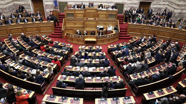 Ψηφοφορία για την εκλογή της Αικατερίνης Σακελλαροπούλου στη θέση Προέδρου της Δημοκρατίας - Sputnik Ελλάδα