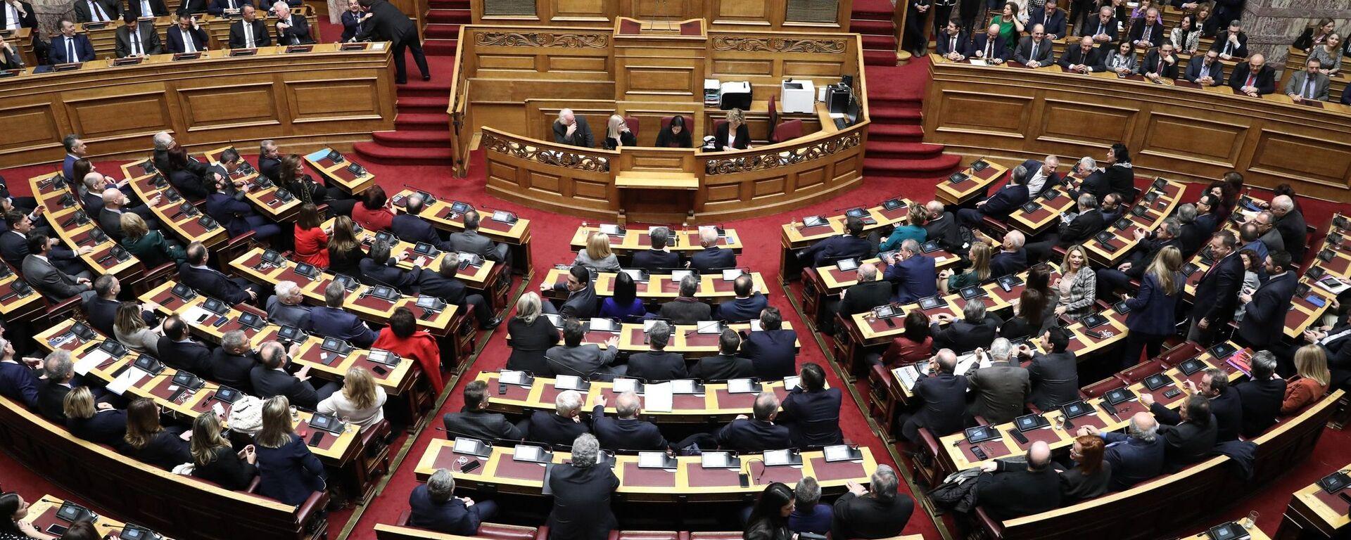 Ψηφοφορία για την εκλογή της Αικατερίνης Σακελλαροπούλου στη θέση Προέδρου της Δημοκρατίας - Sputnik Ελλάδα, 1920, 29.07.2021