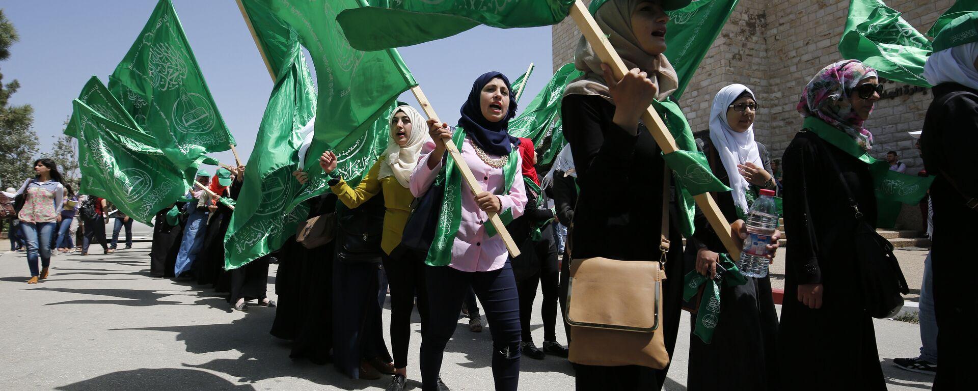 Διαδήλωση υπέρ της Χαμάς στην Παλαιστίνη - Sputnik Ελλάδα, 1920, 13.05.2021