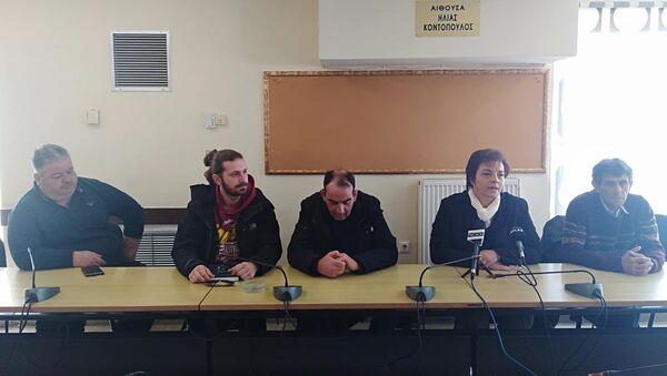 Συνέντευξη Τύπου της Πανελλαδικής Επιτροπής των Μπλόκων - Sputnik Ελλάδα