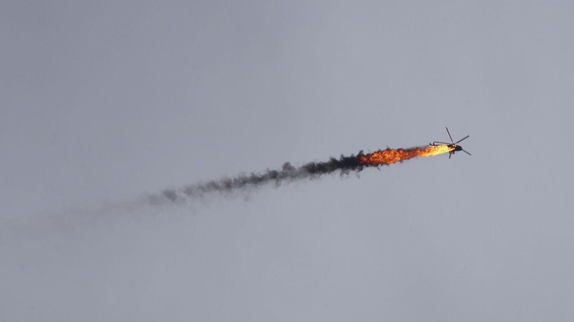 Κατάρριψη ελικοπτέρου στην Ιντλίμπ της Συρίας, στις 11 Φεβρουαρίου 2020 - Sputnik Ελλάδα, 1920, 28.09.2021