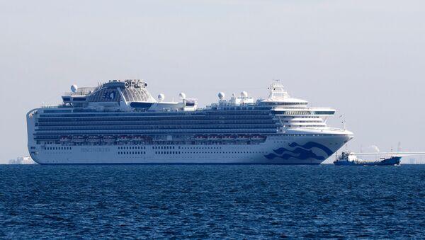 Κορονοϊός: Το κρουαζιερόπλοιο Diamond Princess σε καραντίνα έξω από το λιμάνι της Γιοκοχάμα στην Ιαπωνία - Sputnik Ελλάδα