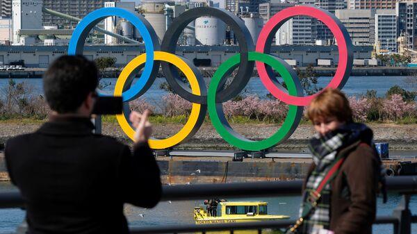 Οι Ολυμπιακοί κύκλοι στο θαλάσσιο πάρκο του Τόκιο - Sputnik Ελλάδα