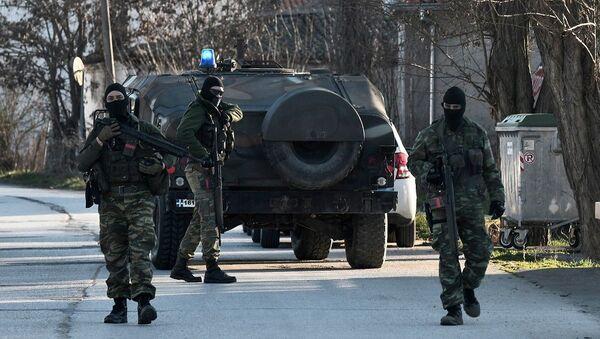 Έλληνες στρατιώτες στα σύνορα Ελλάδας - Τουρκίας - Sputnik Ελλάδα