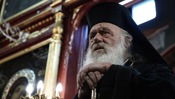 Ο αρχιεπίσκοπος Ιερώνυμος επισκέπτεται τον Ιερό Ναό Αγίου Γεωργίου στις Καστανιές Έβρου - Sputnik Ελλάδα