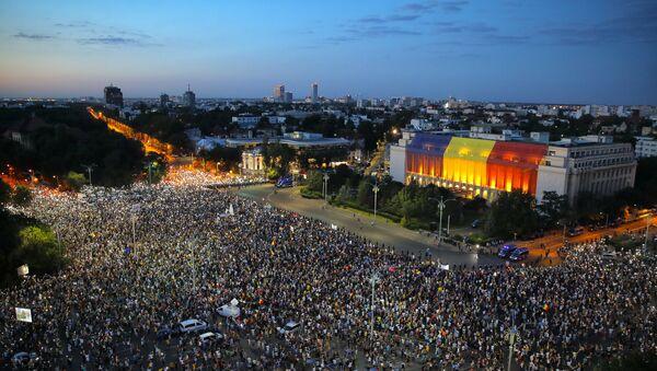 Διαδήλωση στη Ρουμανία - Sputnik Ελλάδα