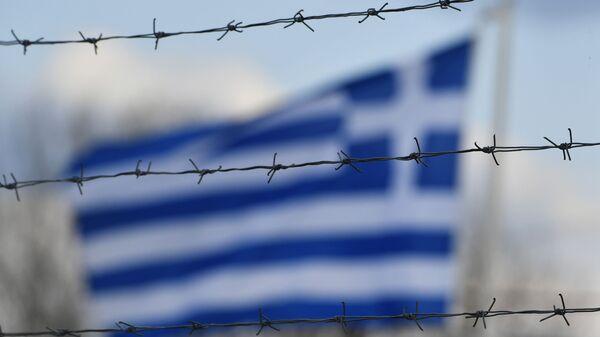 Η ελληνική σημαία στα ελληνοτουρκικά σύνορα, Μάρτιος 2020 - Sputnik Ελλάδα