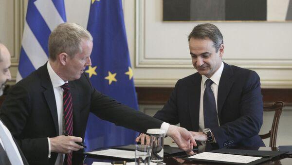 Κυριάκος Μητσοτάκης και Άντριου Μακ Ντάουελ συναντήθηκαν στην Αθήνα, 6 Μαρτίου 2020 - Sputnik Ελλάδα