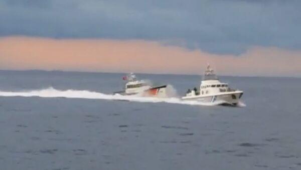 Τουρκικό πλοίο παρενόχλησε ελληνικό σκάφος - Sputnik Ελλάδα