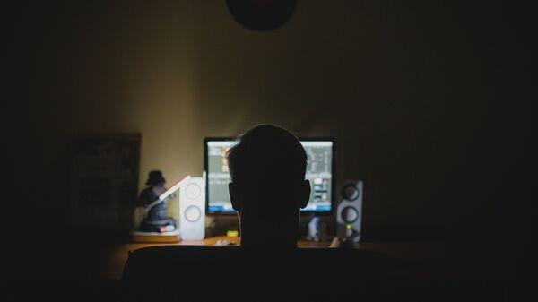 Ένας άντρας μπροστά από οθόνη υπολογιστή - Sputnik Ελλάδα