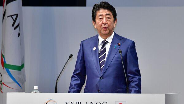 Ο πρωθυπουργός της Ιαπωνίας, Σίνζο Άμπε - Sputnik Ελλάδα