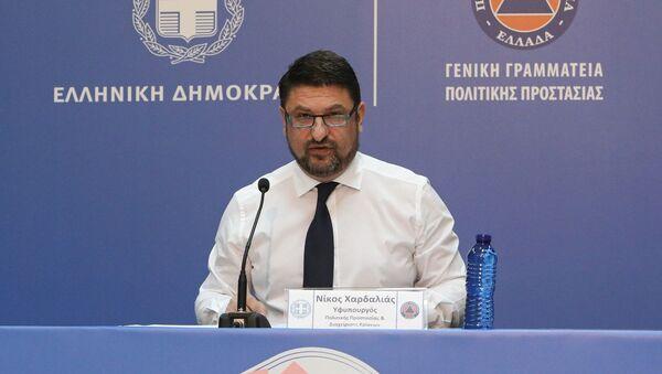 Ο υφυπουργός Πολιτικής Προστασίας και Διαχείρισης Κρίσεων, Νίκος Χαρδαλιάς - Sputnik Ελλάδα